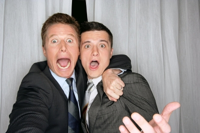 Billy Bush and Josh Hutcherson joke around at CinemaCon 2012 in Las Vegas, Nevada on April 26, 2012