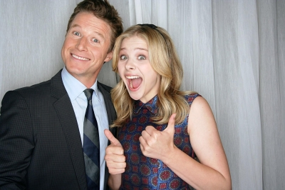 Chloe Moretz and Billy Bush are all smiles at CinemaCon 2012 in Las Vegas, Nevada on April 26, 2012