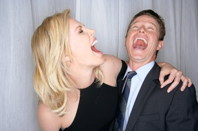 Charlize Theron and Billy Bush exchange a laugh at CinemaCon 2012 in Las Vegas, Nevada on April 26, 2012 Charlize Theron and Billy Bush exchange a laugh at CinemaCon 2012 in Las Vegas, Nevada on April 26, 2012 