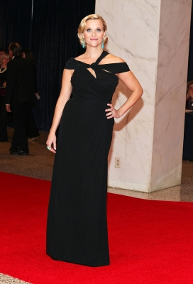 Reese Witherspoon arrives at the 98th annual White House Correspondents' Association Dinner at the Washington Hilton on in Washington, DC on April 28, 2012