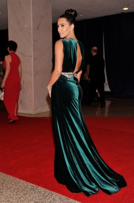 Kim Kardashian arrives at the 98th Annual White House Correspondents&#8217; Association Dinner at the Washington Hilton in Washington, DC on April 28, 2012 