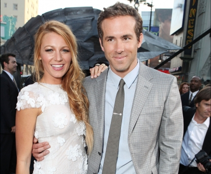 Blake Lively and Ryan Reynolds at Warner Bros. premiere of &#8216;Green Lantern&#8217; at Grauman&#8217;s Chinese Theatre in Hollywood, Calif. on June 15, 2011