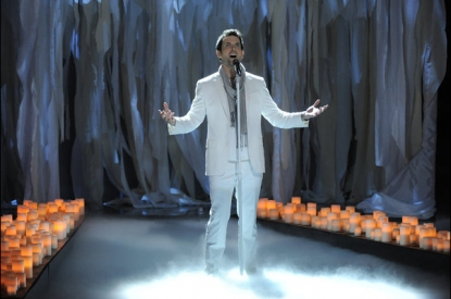 Chris Mann performs on &#8216;The Voice,&#8217; April 30, 2012