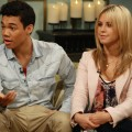 Roshon Fegan and Chelsie Hightower talk about 'Dancing with the Stars' on the set of Access Hollywood Live on May 4, 2012