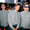 Adam Yauch, Mike Diamond and Adam Horovitz  of the Beastie Boys look dapper at the 1998 MTV Video Music Award Arrivals on September 10, 1998