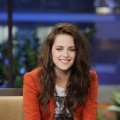 Kristen Stewart gives two thumbs up during an interview on 'The Tonight Show With Jay Leno' in Burbank, Calif., on May 4, 2012
