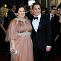 Melissa McCarthy and Ben Falcone arrive at the 84th Annual Academy Awards held at the Hollywood &amp; Highland Center, Los Angeles, on February 26, 2012