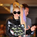 Lady Gaga is spotted at Narita International Airport in Toyko on May 8, 2012