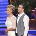 Katherine Jenkins and Mark Ballas listen to the judges comments on 'Dancing,' May 7, 2012