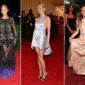 Beyonce, Gwyneth Paltrow & Sarah Jessica Parker at the 2012 Met Gala in NYC