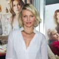 Cameron Diaz rocks a low-cut blouse at the &#8216;What To Expect When You&#8217;re Expecting&#8217; premiere in New York City on May 8, 2012 