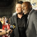 Blake Shelton and Jermaine Paul chat with Access Hollywood at 'The Voice' finale in Los Angeles on May 8, 2012