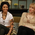 Courtney Love and Linda Perry stop by Access Hollywood Live to discuss their upcoming event, the L.A. Gay & Lesbian Center's An Evening with Women, on May 9, 2012