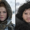 Rose Leslie as Ygritte, Kit Harington as Jon Snow in 'Game of Thrones' Season 2
