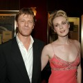 Sean Bean and Georgina Sutcliffe during 'The Island' New York City Premiere - Inside Arrivals at Ziegfeld Theater in New York City on July 11, 2005