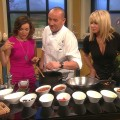 Chef Ashley James cooks with Kit Hoover and guest Suzanne Somers on Access Hollywood Live