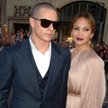 Casper Smart and Jennifer Lopez hit the &#8216;What to Expect When You&#8217;re Expecting&#8217; premiere in Hollywood
