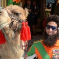 Admiral General Aladeen from the 'The Dictator' walks with his camel during the 65th Annual Cannes Film Festival at The Carlton Hotel in Cannes, France, on May 16, 2012