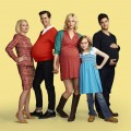 Ellen Barkin as Jane, Andrew Rannells as Bryan, Georgia King as Goldie, Bebe Wood as Shania and Justin Bartha as David in 'The New Normal' on NBC, airing Tuesdays at 9:30 in Fall 2012