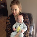 Hilary Duff is seen holding son Luca, May 2012