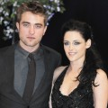 Robert Pattinson and Kristen Stewart attend the UK Premiere of 'The Twilight Saga: Breaking Dawn Part 1' at Westfield Stratford City in London on November 16, 2011