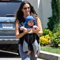 Alanis Morissette and son Ever Imre Morissette-Treadway are seen in Brentwood, Calif., on August 18, 2011
