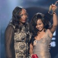 Pat Houston and Bobbi Kristina Houston-Brown accept the Millennium Award on behalf of Whitney Houston onstage at the 2012 Billboard Music Awards held at the MGM Grand Garden Arena in Las Vegas, Nevada on May 20, 2012