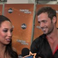 Cheryl Burke and William Levy backstage after Night 1 of the Season 14 'Dancing with the Stars' finals, May 21, 2012
