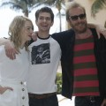 Emma Stone, Andrew Garfield and Rhys Ifans attend 'The Amazing Spiderman' photo call at Summer of Sony 4 Spring Edition held at the Ritz Carlton Hotel in Cancun, Mexico on April 16, 2012