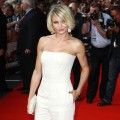 Cameron Diaz steps out in white at the European premiere of 'What To Expect When You're Expecting' at BFI IMAX in London on May 22, 2012