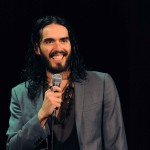 Russell Brand is all smiles while performing on stage at the Music Box at Borgata Hotel Casino and Spa in Atlantic City, N.J., on May 5, 2012