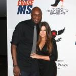 Lamar Odom and Khloe Kardashian attend the 19th Annual Race To Erase MS - 'Glam Rock To Erase MS' event at the Hyatt Regency Century Plaza in Century City, Calif., on May 18, 2012