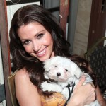 Shannon Elizabeth poses with a furry friend backstage at the 19th Annual Race to Erase MS held at the Hyatt Regency Century Plaza in Century City, Calif., on May 18, 2012