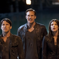 Stephen Moyer, Alexander Skarsgard and Lucy Griffiths in &#8216;True Blood&#8217; Season 5