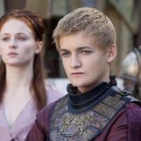 Sophie Turner as Sansa Stark and Jack Gleeson as King Joffrey Baratheon in 'Game of Thrones' Season 2