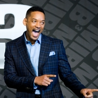 Will Smith is all smiles at the 'Men In Balck 3' press conference at the Ritz Carlton Hotel in Seoul, South Korea on May 7, 2012