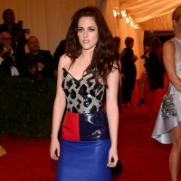Kristen Stewart sports bold colors at the &#8216;Schiaparelli And Prada: Impossible Conversations&#8217; Costume Institute Gala at the Metropolitan Museum of Art in New York City on May 7, 2012 