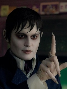 Johnny Depp in a scene from 'Dark Shadows'