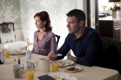 Carrie Preston and Scott Foley in 'True Blood' Season 5