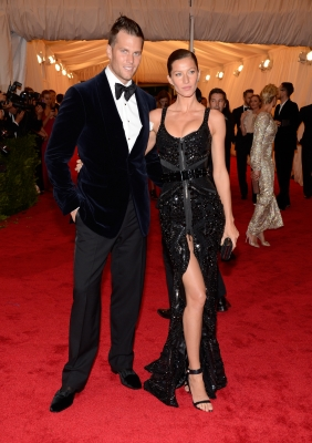 Tom Brady and Gisele Bundchen step out at the 'Schiaparelli And Prada: Impossible Conversations' Costume Institute Gala at the Metropolitan Museum of Art in New York City on May 7, 2012