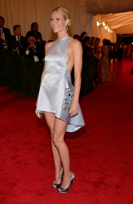 Gwyneth Paltrow dazzles at the 'Schiaparelli And Prada: Impossible Conversations' Costume Institute Gala at the Metropolitan Museum of Art in New York City on May 7, 2012