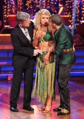 Tom Bergeron ask Katherine Jenkins (with partner Mark Ballas) about what happened on the dance floor, 'Dancing with the Stars,' May 14, 2012