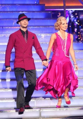 Mark Ballas and Katherine Jenkins take the stage on &#8216;Dancing with the Stars,&#8217; May 14, 2012