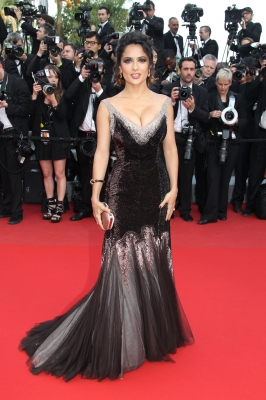 Salma Hayek attends the 'Madagascar 3: Europe's Most Wanted' Premiere during the 65th Annual Cannes Film Festival at Palais des Festivals in Cannes, France, on May 18, 2012