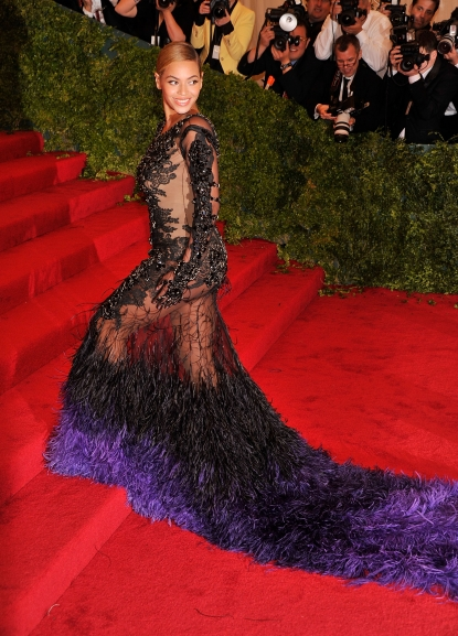 Beyonce Knowles stuns at the 'Schiaparelli And Prada: Impossible Conversations' Costume Institute Gala at the Metropolitan Museum of Art in New York City on May 7, 2012