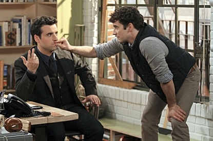 David Krumholtz as Joe, and Michael Urie as Louis in 'Partners,' airing Mondays at 8:30 on CBS in Fall 2012