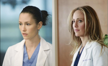 Chyler Leigh and Kim Raver as seen on 'Grey's Anatomy'