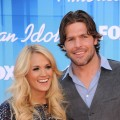 Carrie Underwood and Mike Fisher arrive at 'American Idol' Season 11 Grand Finale Show at Nokia Theatre L.A. Live on May 23, 2012