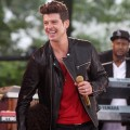Robin Thicke performs on ABC's 'Good Morning America' at Rumsey Playfield, Central Park, New York City, on May 25, 2012