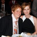 Cynthia Nixon (right) poses with Christine Marinoni at the at the Point Foundation 'Point Honors The Arts' Benefit at Capitale in New York City on March 7, 2008